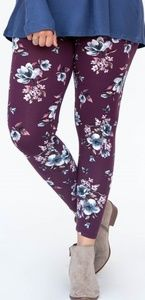 Plum Blossom.Leggings by Agnes & Dora